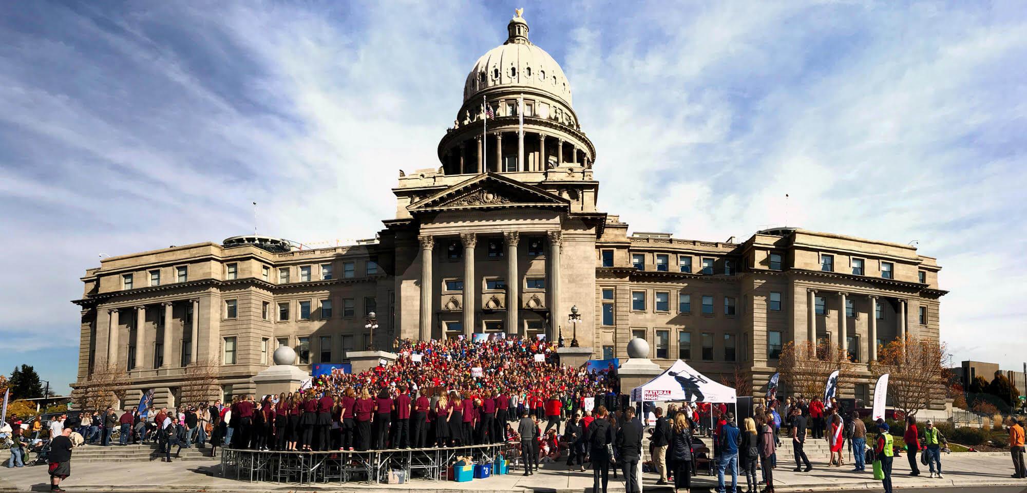 Drug Free Idaho kids at capitol